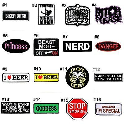 Motorcycles Chopper Biker Rock Punk Fun Joke Quote Emblem Clothing Iron on patch