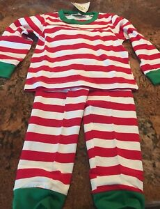 85060644d NWT Baby Bear Boutique Christmas Pajamas Boy Girl Unisex Red White ...