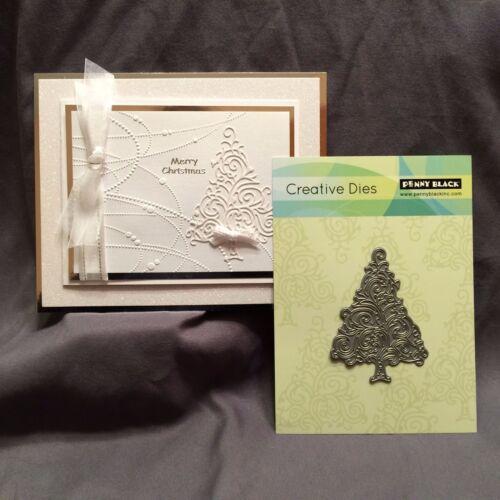 Christmas Tree Die TWIRL TREE Penny Black metal cutting Dies 51-091 Holidays