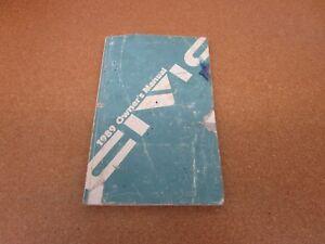 1989 89 Honda Civic owners manual ORIGINAL book guide literature