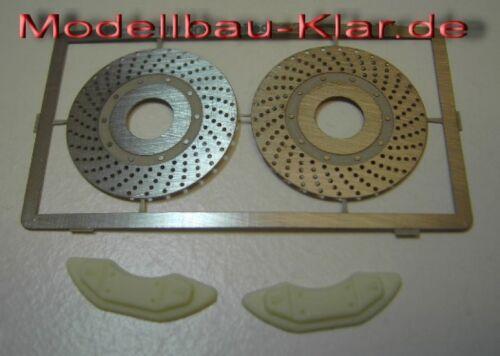 Bremsscheiben U-N gelocht Bremssattel 18mm  rot lackiert 1 Achsen-Satz // 2 ..