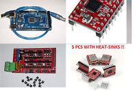 Mega2560 R3 16au ,ramps1.4,3d Printer Board & 5pcs-a4988 Stepper Drivers, Usa