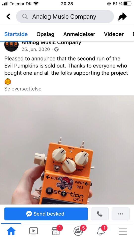 AMC -DS-1. , Boss Analog Music Company Evil Pumpkin ds.1