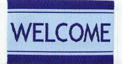 Welcome Door Mat Blue Dolls House Miniature Miniatures