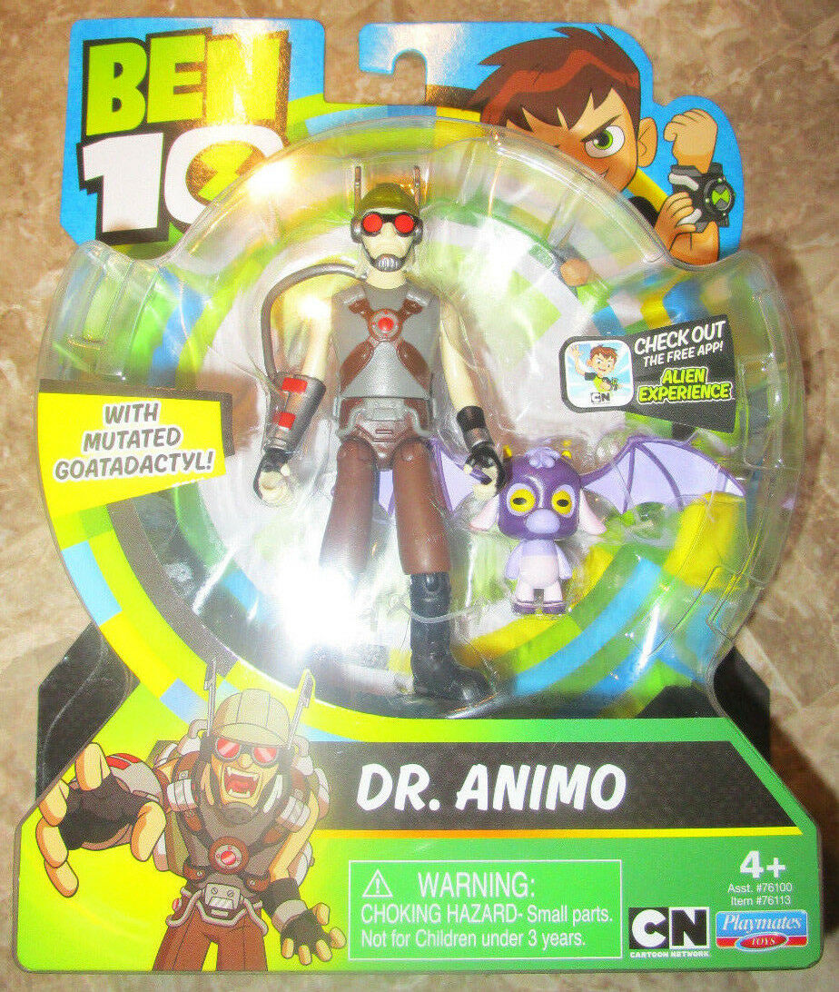 BEN 10 DR. ANIMO FIGURE MUTATED GOATADACTYL CARTOON NETWORK VHTF