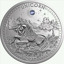 Cameroon 2012 UNICORN Opal Gemstone 1000 Francs Silver Coin,Proof