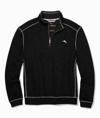 Tommy Bahama Zamas Half-Zip Sweatshirt T218031 $110 Dockside Blue
