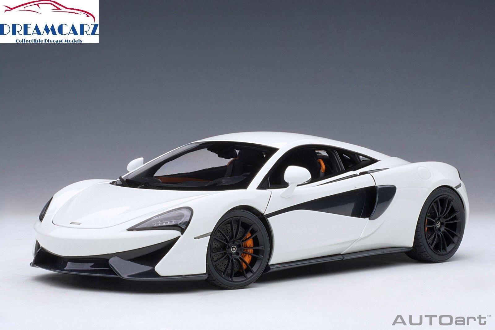 bajo precio Autoart 76041 76041 76041 1 18 McLaren 570S-blancoo con Negro Ruedas  suministramos lo mejor