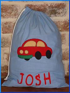 CAR PERSONALISED LIBRARY BAG //TOY BAG