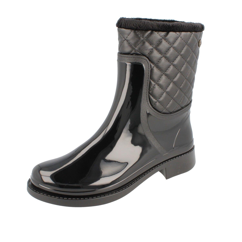 Grosch chaussures sylt femmes bottes En Caoutchouc tempête Doubleure noir-Fabriqué en ue