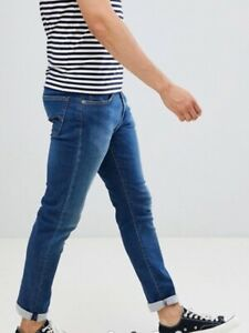 Levi-039-s-Herren-512-Slim-Taper-Fit-Jeans-in-blau