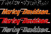 "Harley Davidson Sticker 12"" Harley Decal Vinyl 2x (PAIR) **COLOR OPTIONS**"