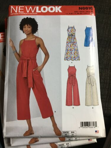 Simplicity New Look Uncut Pattern Jumpsuit Dress 8-20