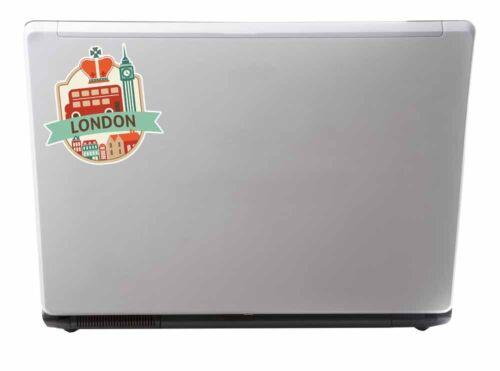 2 x 10cm London UK England Vinyl Sticker Laptop Car Travel Luggage Tag #9492