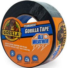 Gorilla All Weather Waterproof Butyl Rubber Adhesive Duct Tape 25yd X 18 Black