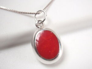 Reversible-Red-Coral-and-Mother-of-Pearl-925-Sterling-Silver-Oval-Pendant