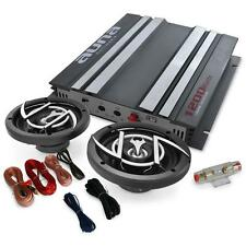 """CAR HIFI AUDIO SET 1200W AMPLIFIER AMP 2X 6.5"""" SPEAKERS INCLUDES WIRING KIT NEW"""