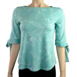 Ex-Debenhams-Petite-Turquoise-Floral-Chemisier-Haut-Tailles-6-20
