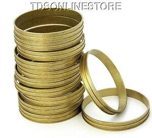 Raw Brass 2 Channeled Bracelet Bangle Blanks 3/8 inch Pkg Of 12