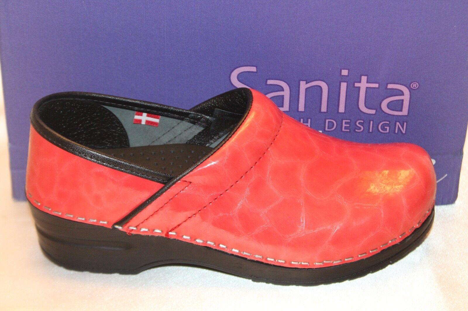 NEW  NIB  SANITA The Patent Original Danish Clog Pink Patent The Cushioned Slip On EU 35 36 61db67