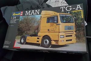 MAQUETTE KIT CAMION TRUCK REVELL MAN TG-A 1/24 ref 07550 neuf boite scellee