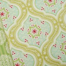 Tilda Apple Bloom Aurora Tan Yellow Fabric / quilting floral bohemian green blue