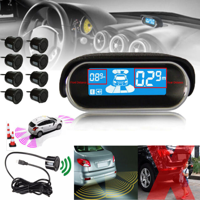 New LCD Car Reverse Radar Rearview 8 Parking Sensor Back Up Alarm System