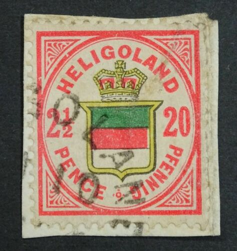 Heligoland 1885 Sc.#21cMi.18e 2 12 Pence20 Pfennig, Used on Piece!