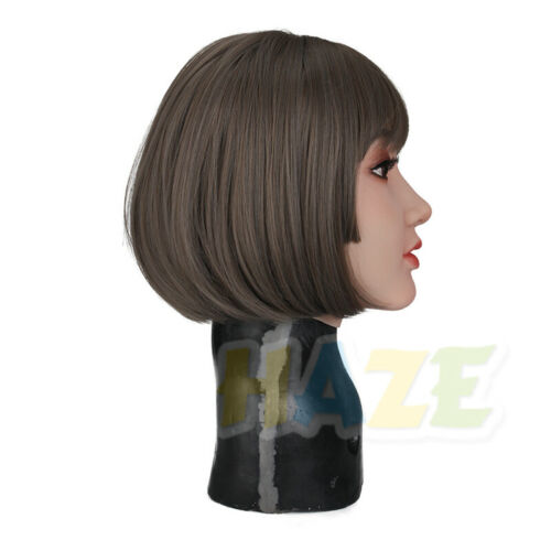 Details about  /Christine Realistic Silicone Female Face Headwear Crossdress Cosplay Halloween