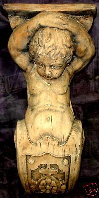 Eros Cupid Wall Sculpture Bracket English Antique Art