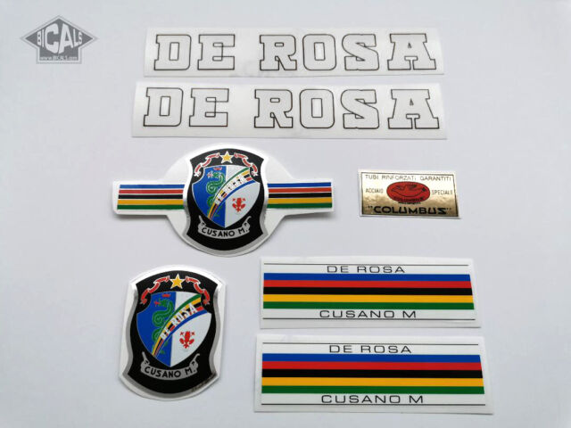 DE ROSA 60`s red decal set sticker complete bicycle FREE SHIPPING