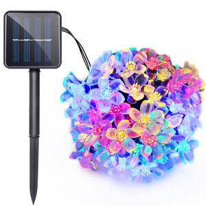 Solar-Power-50-LED-String-Strip-Fairy-Light-Flower-Xmas-Party-Decor-Waterproof