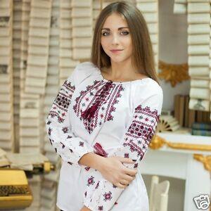 Blue Ukrainian Embroidered Tunic Vyshyvanka Ethnic National Top Sorochka Women Ukrainian Gift Ukrainian Vyshyvanka Slavic Blouse Tee S-4XL