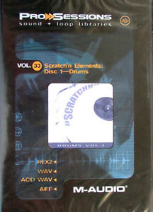 M-AUDIO-Pro-Session-Vol-33-Sratch-n-Elements-1-Drums-NEUWARE-IN-FOLIE-OVP