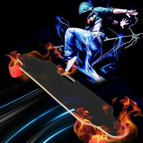 Details about  /CAROMA Electric Skateboard Cruiser Maple Long Board Wireless Remote 350W Gift