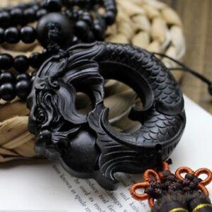 1PC-Black-Ebony-Wood-Carving-Dragon-Sculpture-Prayer-Beads-Car-Pendant-Jewelry