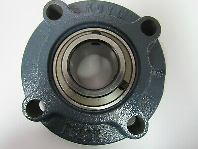 35 mm 4-Bolt Piloted Flange Cast Iron UCFC207 Mounted Bearing UC207+FC207 QTY:1