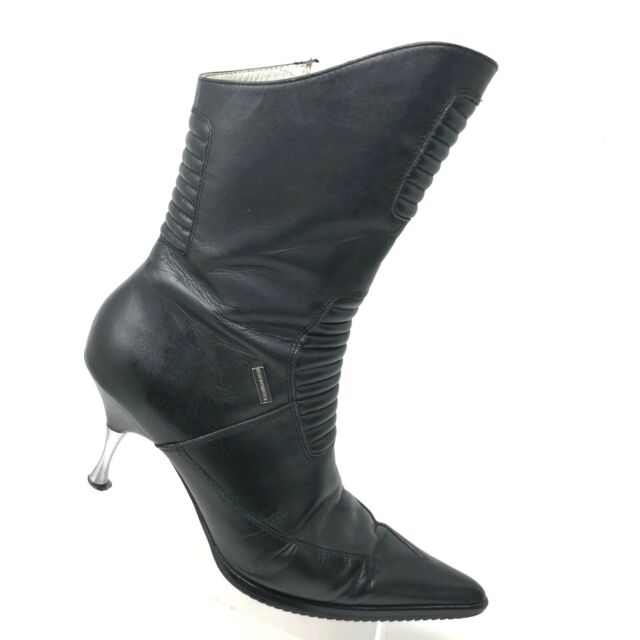 cda5444f0cf8 Harley Davidson Superb Steel Heel Black Leather Boot Womens Shoe SIZE 7.5 B