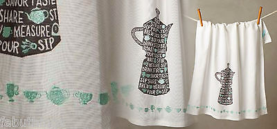 Anthropologie Brew & Pour Dish Towel Hostess Wedding Mother Gift Coffee Lover