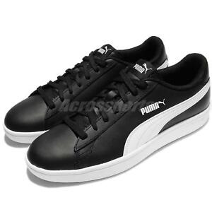 1a5775ad00f0 Puma Smash V2 L Black White Men Classic Shoes Sneakers Trainers ...