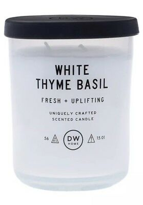 DW Home Contemporary and Richly Scented Candle Pumpkin Thyme in Medium Jar with Lid