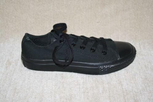 YOUTH BOYS//GIRLS BLACK LOW TOP CONVERSE ALL STAR-SEE SIZES i2a a