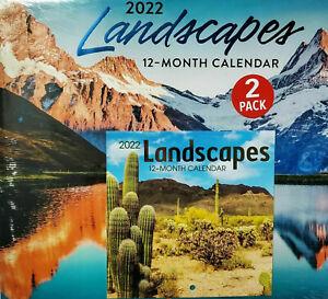 "Landscapes 2022 Wall Calendar 11""X12"" & Mini Calendar 7""X7"" w"