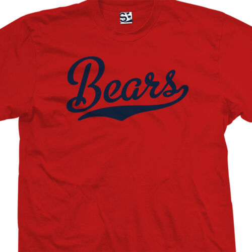 Bears Script Tail T-Shirt All Size /& Colors High School Sports Football Team