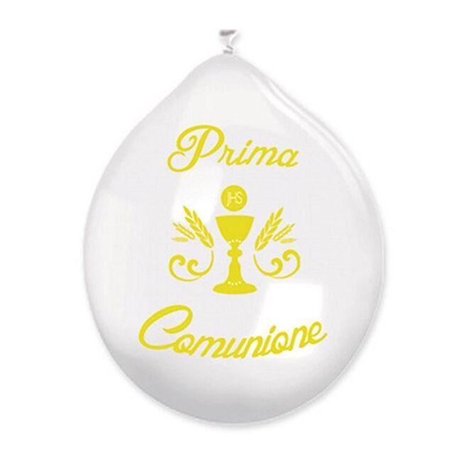 20 Party Festa Cerimonia Ostia PDM20//25 PALLONCINI I° COMUNIONE IN LATTICE PZ