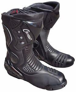Stivali-Stivaletto-Moto-Sportivo-Racing-Pelle-Da-Pista-Professionale-Traspirante