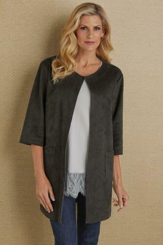 Size Large | SOFT SURROUNDINGS Suede Topper Cardig