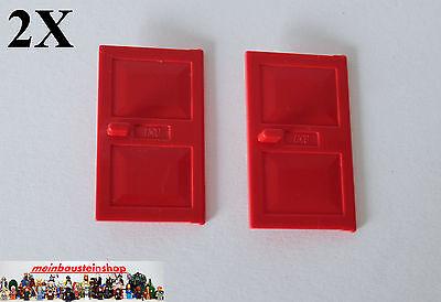 2X Lego® 4131 Tür Türblatt Door 1X4X5 Rot Red