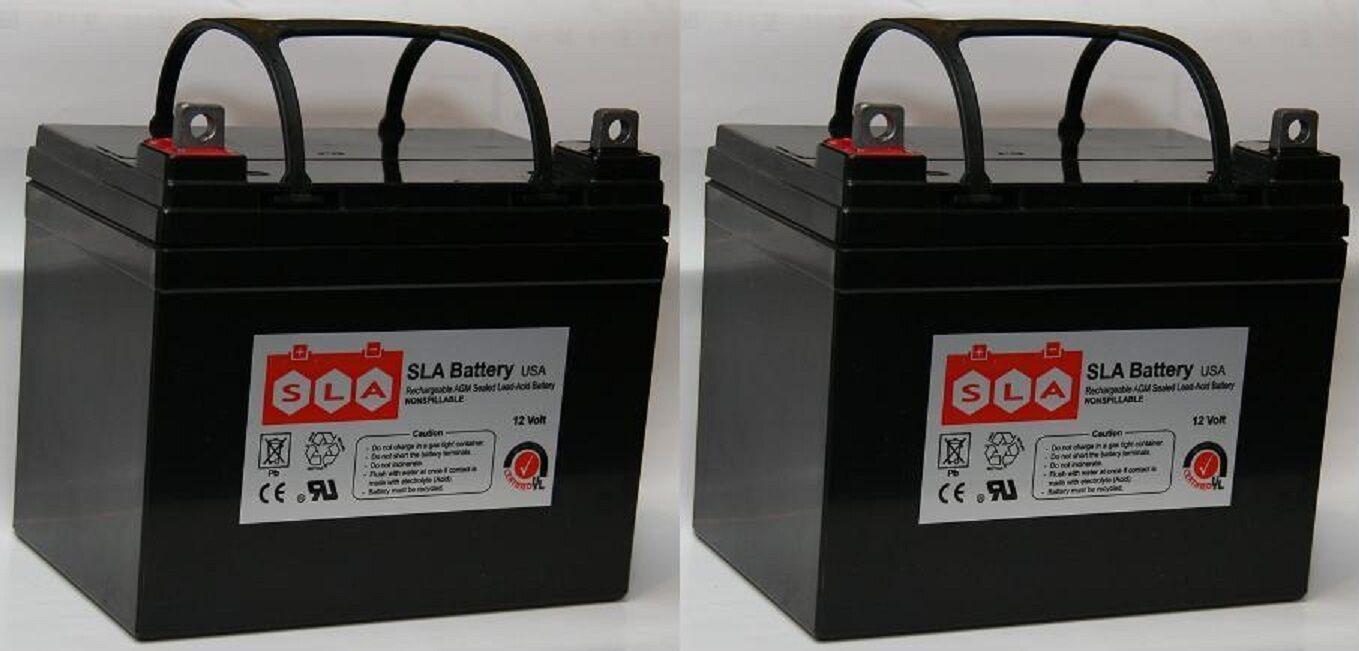(Two) U1 12V 35Ah Yamaha Rhino Utility Vehicle UTV Battery FREE SHIPPING