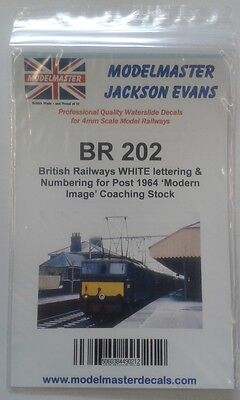 Letters & Numbers Decals For Br 1965-90s Coaching Stock Modelmaster Mmbr202 L1 Sapore Fragrante (In)